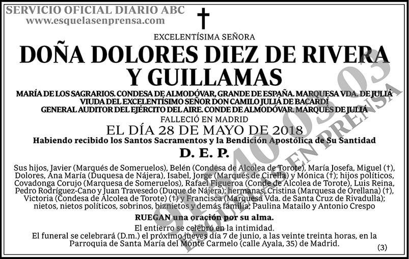 Dolores Diez de Rivera y Guillamas